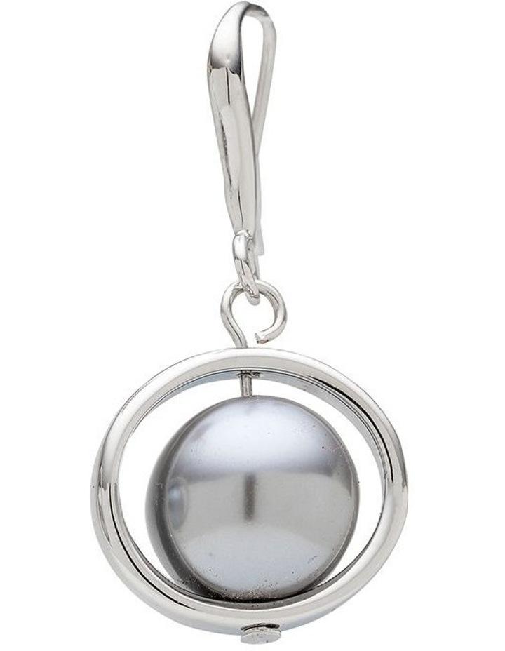 Pearl Ring Drop Grey Earrings image 4