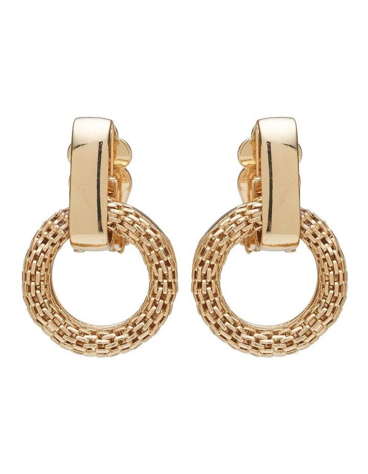 Mesh Link Clip Earrings image 1