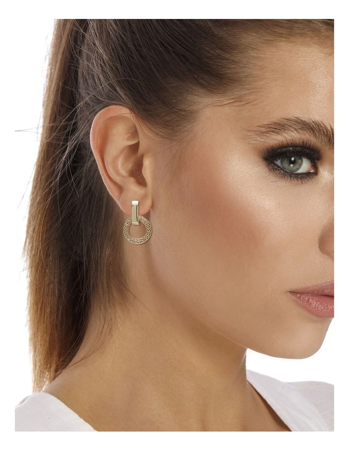 Mesh Link Clip Earrings image 2