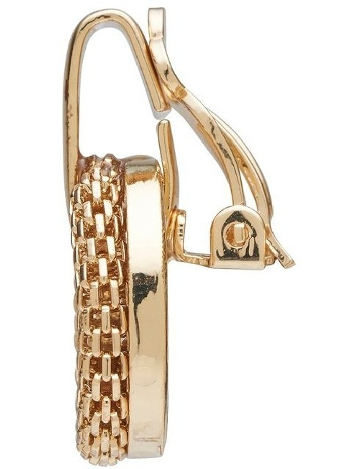 Mesh Link Clip Earrings image 3