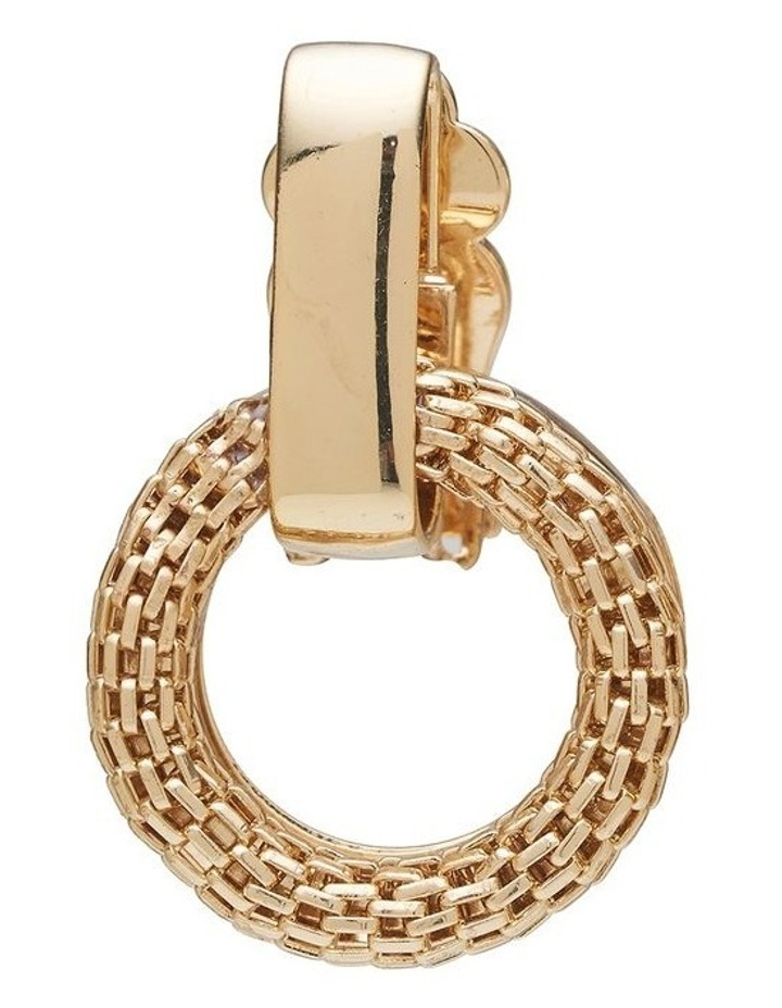 Mesh Link Clip Earrings image 4