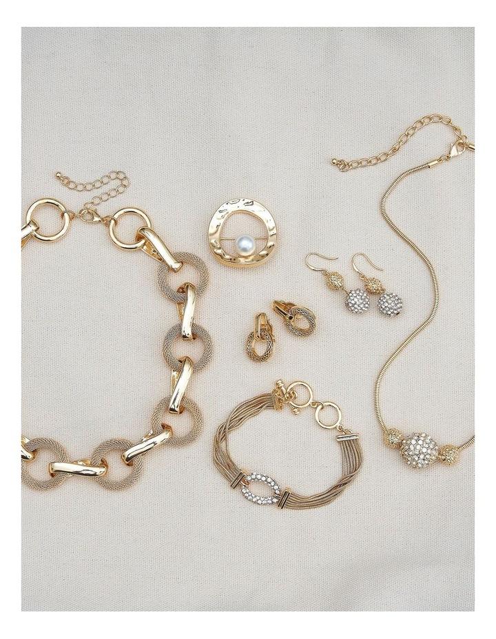 Mesh Link Clip Earrings image 5