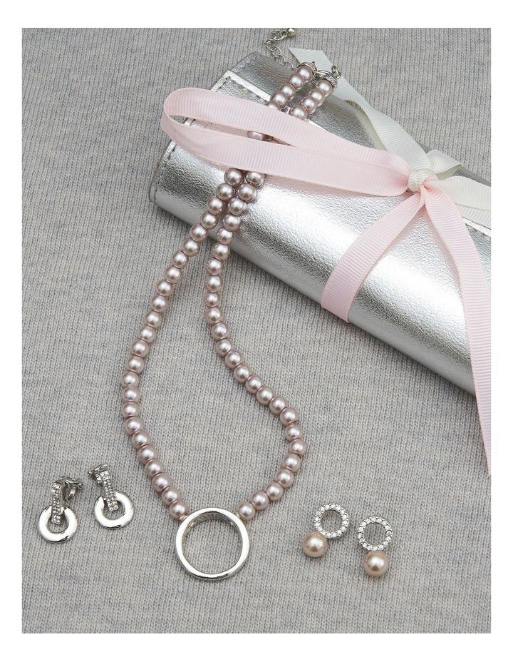 Circle & Bar Silver Stud Earrings image 4