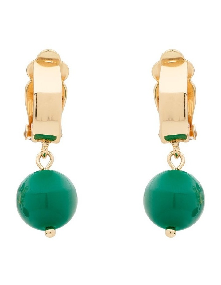 About Colour Green Stud Earrings image 1