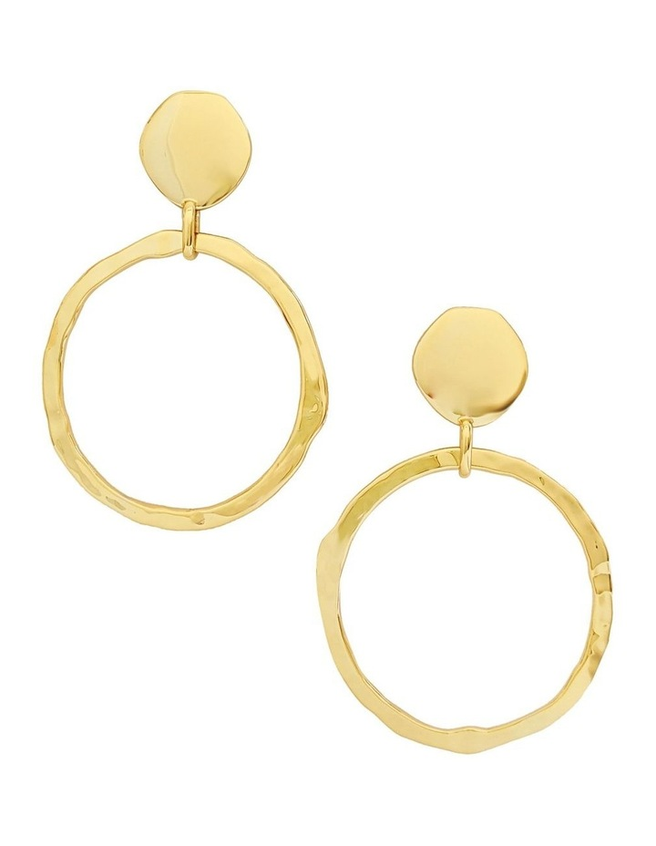 Olive Gold Drop Earrings image 1