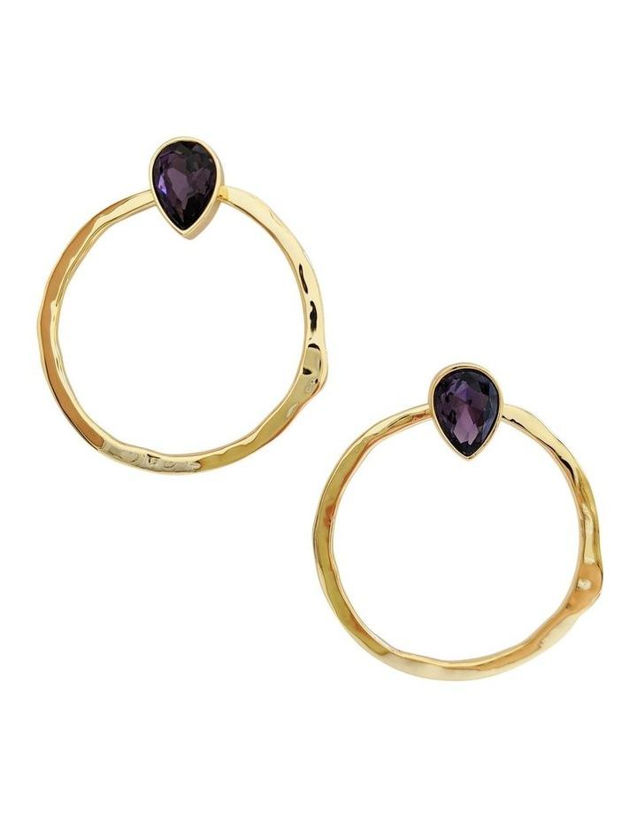 Mila Purple Stud Earrings image 1