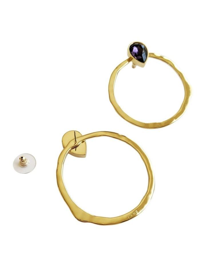 Mila Purple Stud Earrings image 2