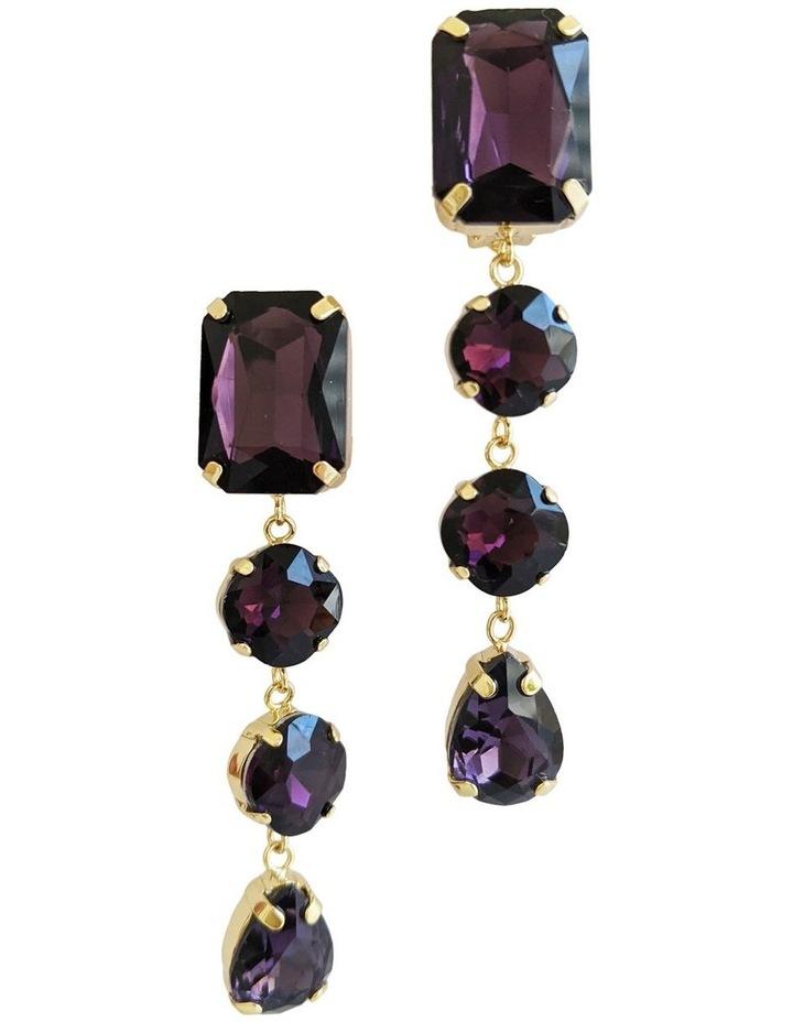 Sienna Purple Drop Earrings image 1