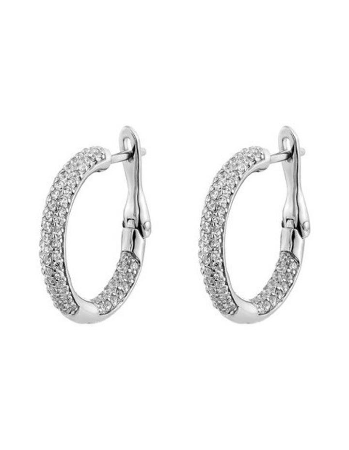 Cyclic Silver Huggie Earrings image 1