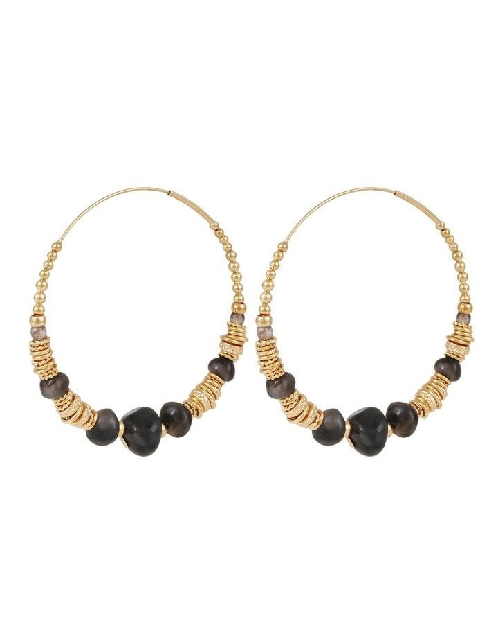 Biba Black Hoop Earrings image 1