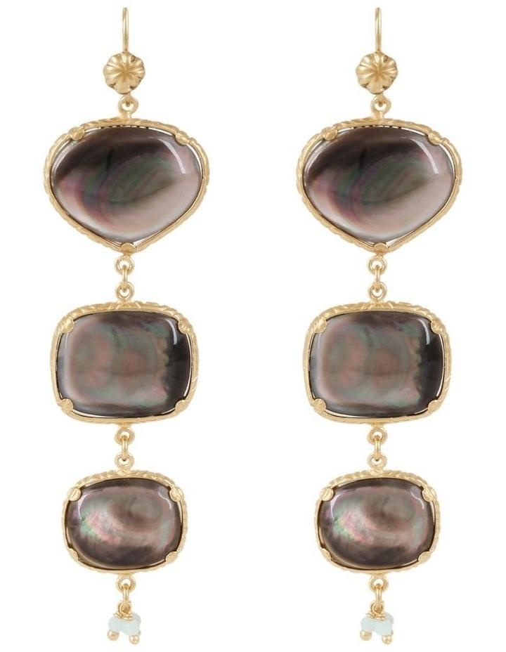 Silene Yellow Drop Earrings image 1