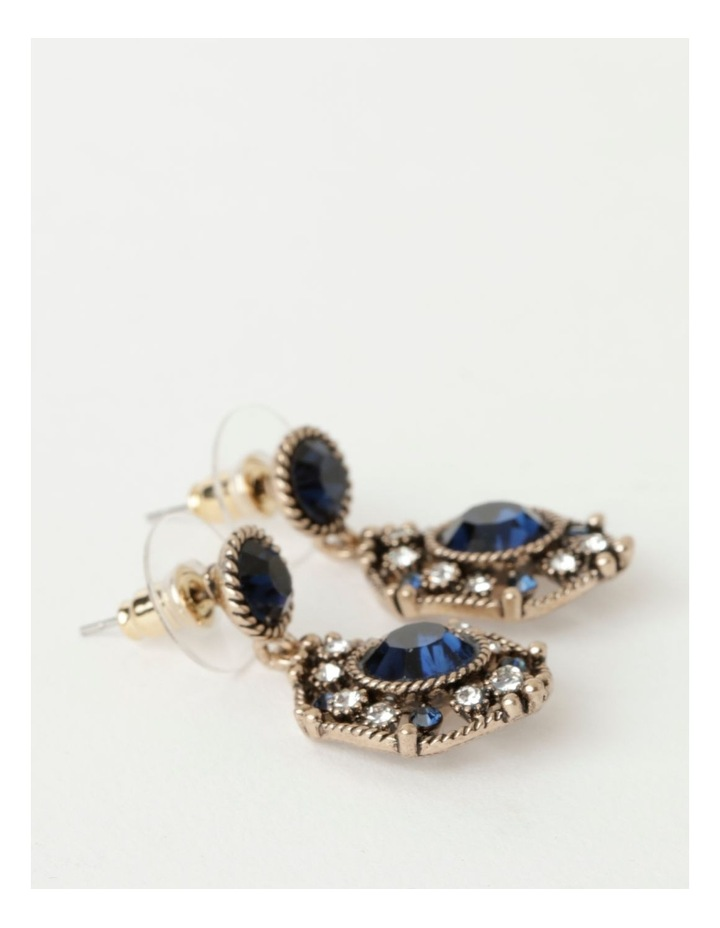 Art Deco Navy Drop Earrings image 2