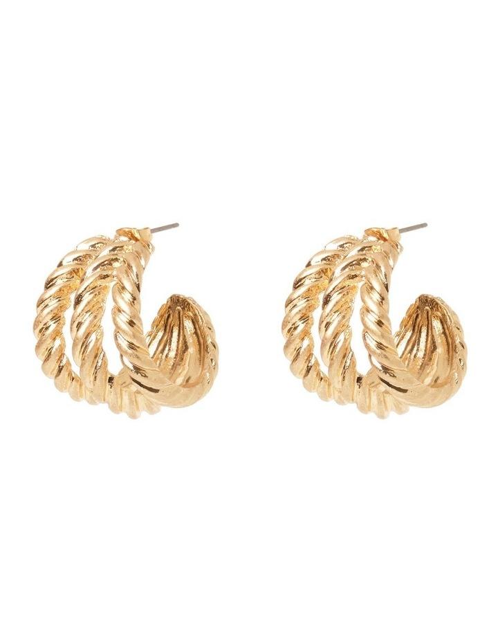 Felice Gold Hoop Earrings image 1