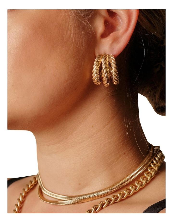 Felice Gold Hoop Earrings image 2
