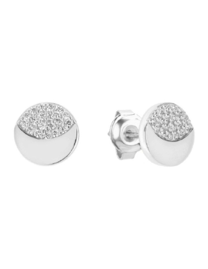 Slate Silver Stud Earrings image 1