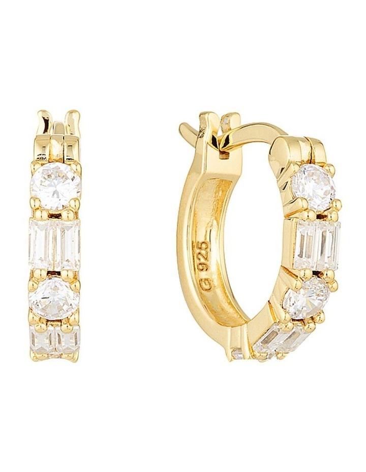 Irina Small Gold Hoop Earrings image 1