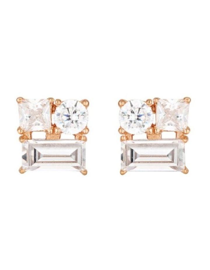 Thea Rose Gold Stud Earrings image 1