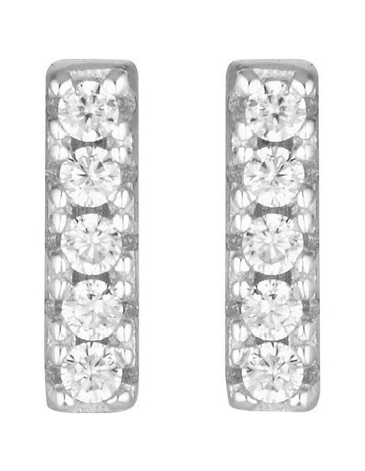 Alina Silver Stud Earrings image 1