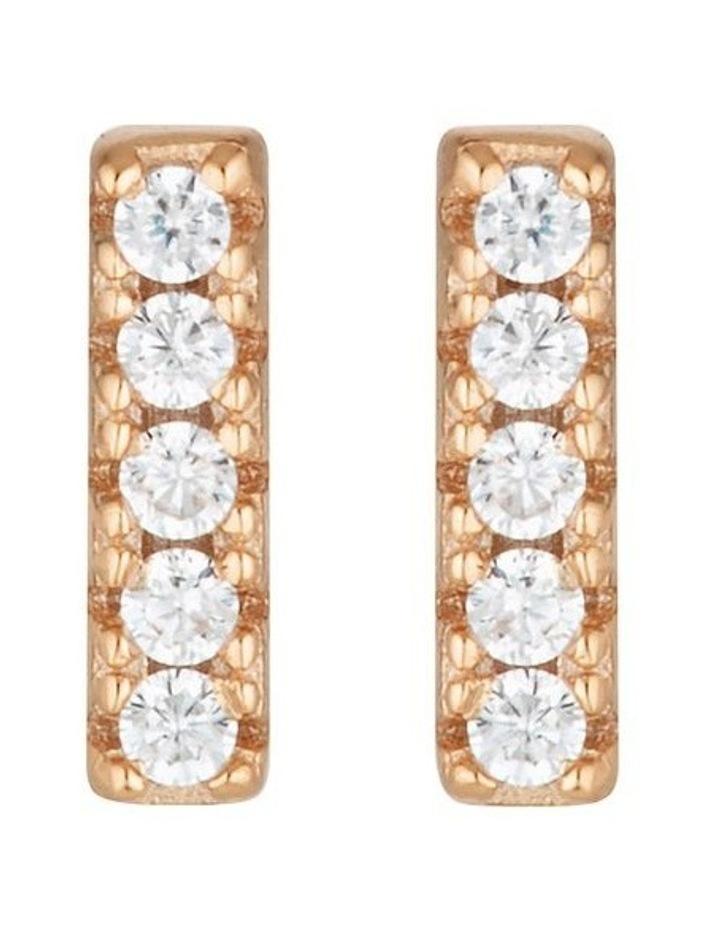 Alina Rose Gold Stud Earrings image 1