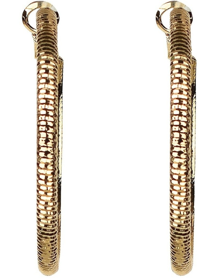 Chain Look Gold Hoop Earring image 1