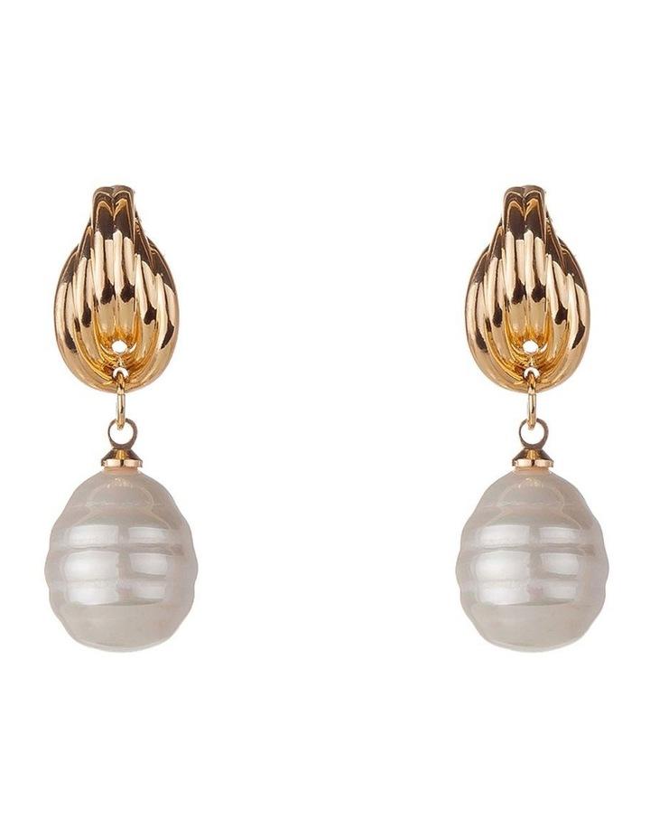 Baroque Pearl Drop Earring image 1