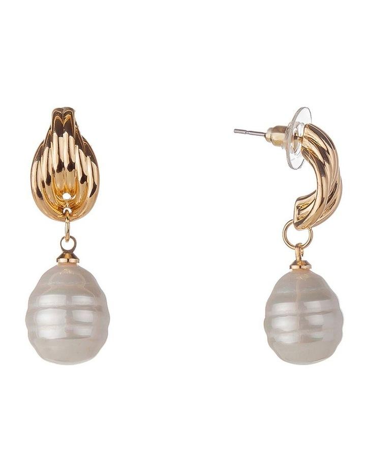 Baroque Pearl Drop Earring image 2