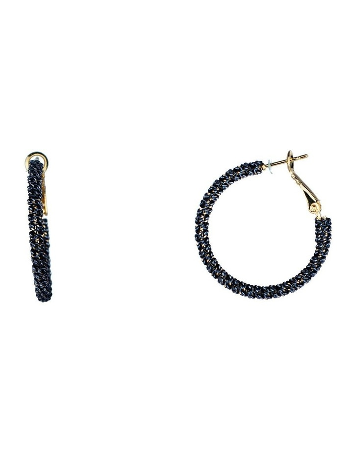 Wrapped Chain Hoop Earring image 2