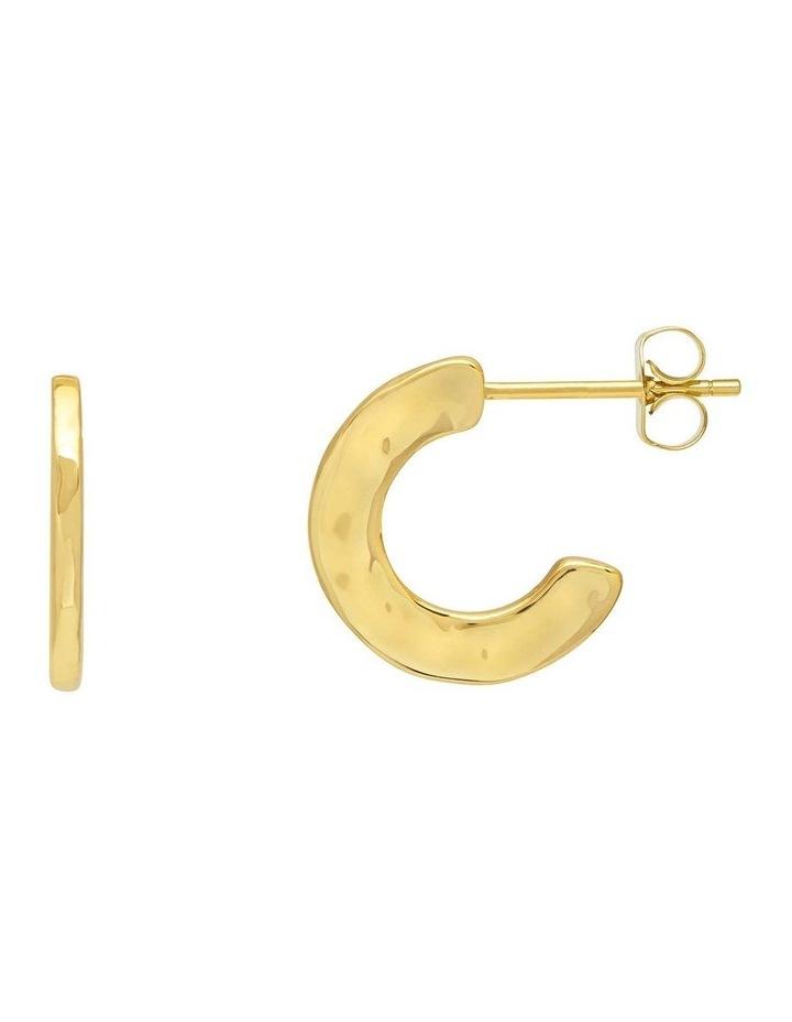 Hammered Texture Hoop Earrings image 1