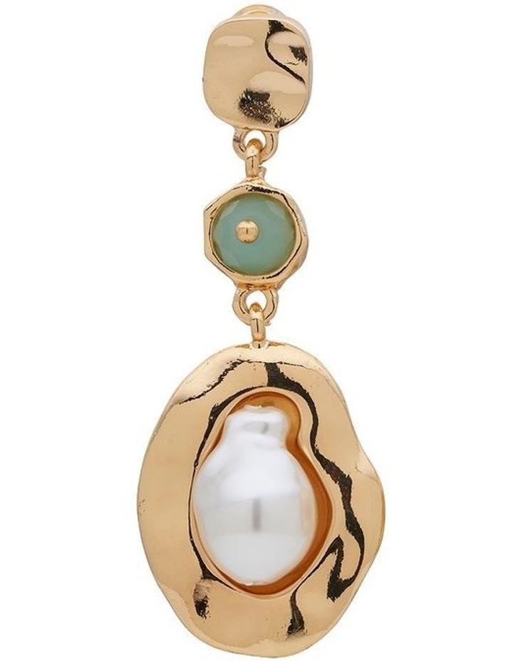 Stone & Organic Pearl Drop Earring image 3
