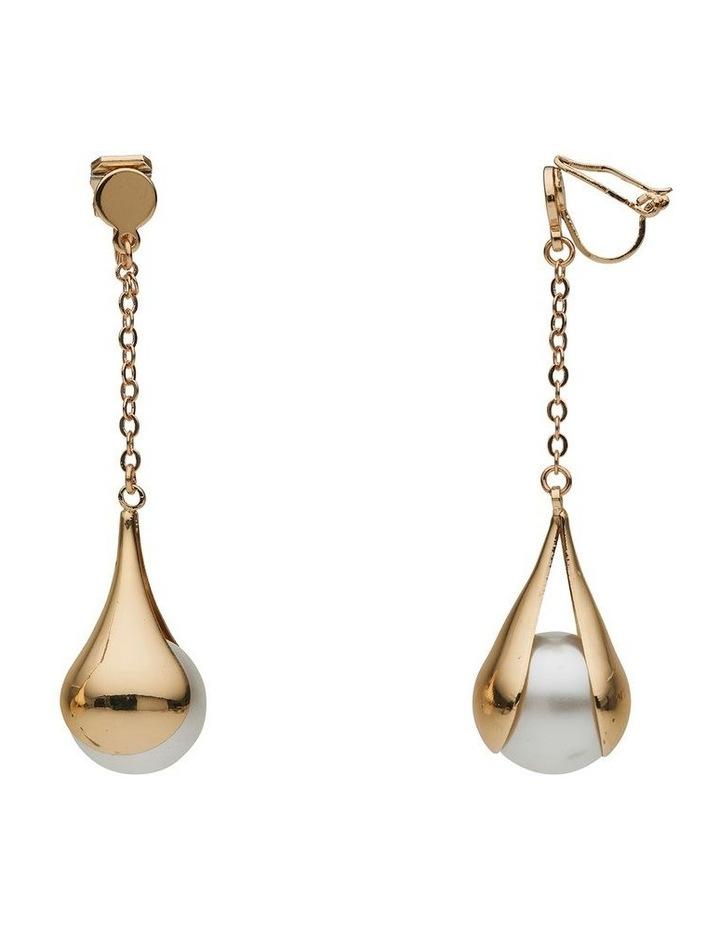 Pod Pearl Long Drop Earring image 2