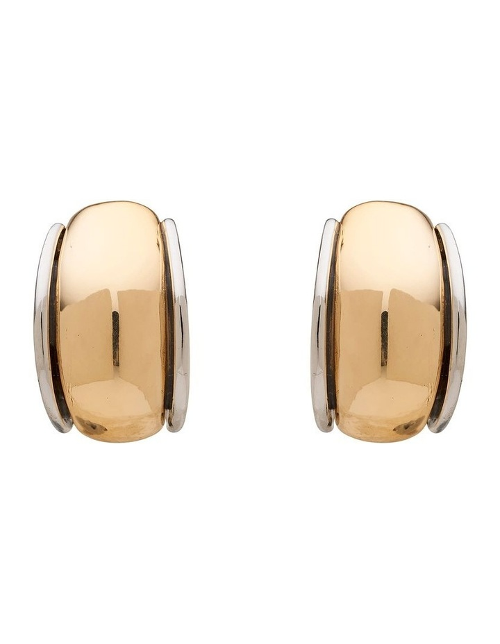 Two Tone Curve Clip On Earring image 1