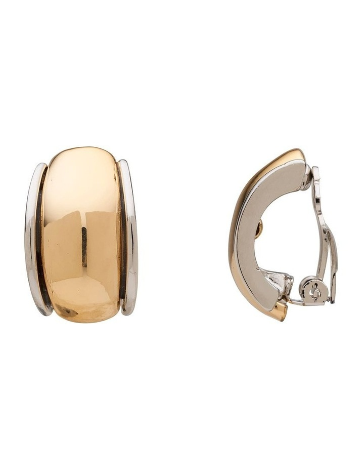 Two Tone Curve Clip On Earring image 2