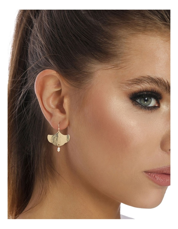 Falling Floral Gold Earring image 2