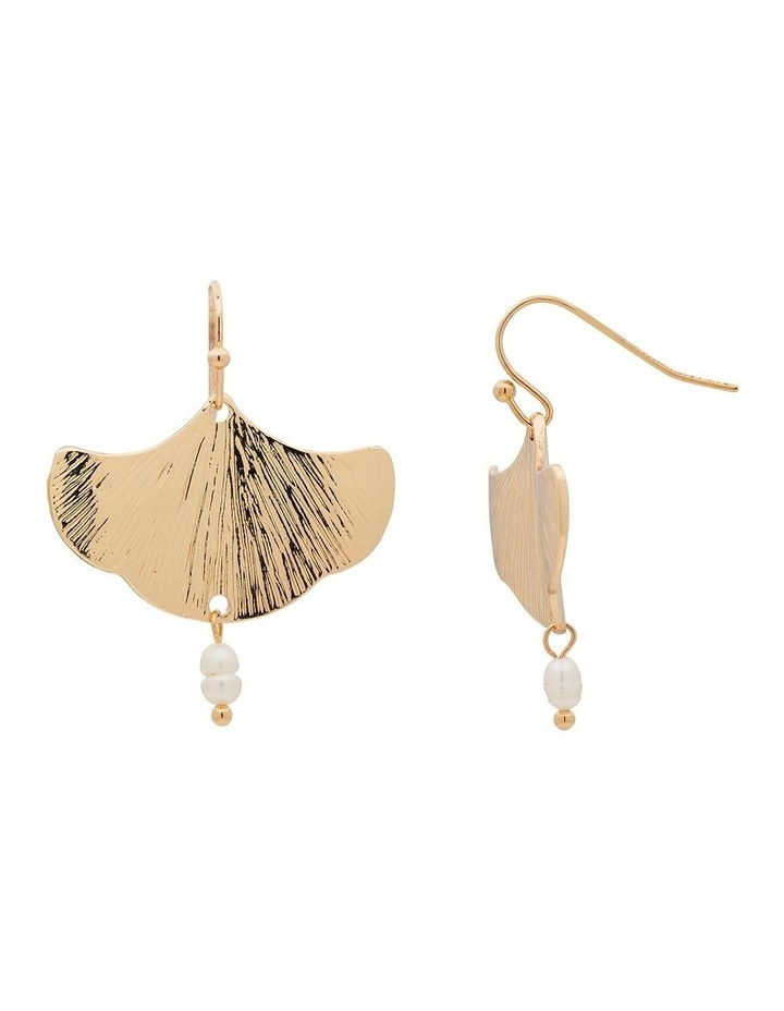 Falling Floral Gold Earring image 4