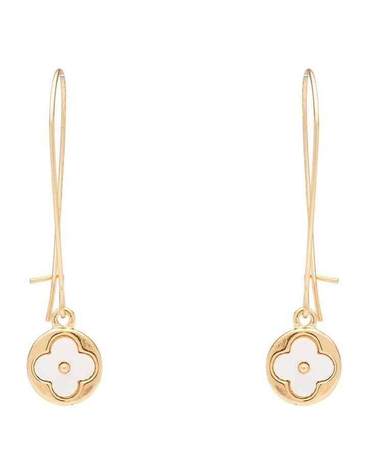 Floral Thread Drop Earring image 1