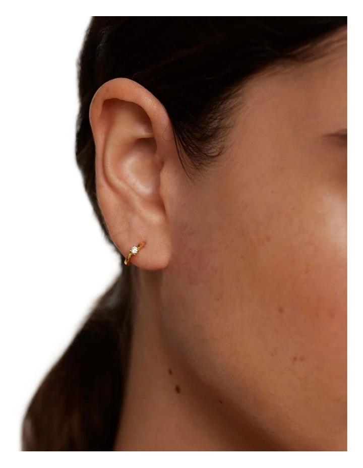 White Solitary Earring image 2