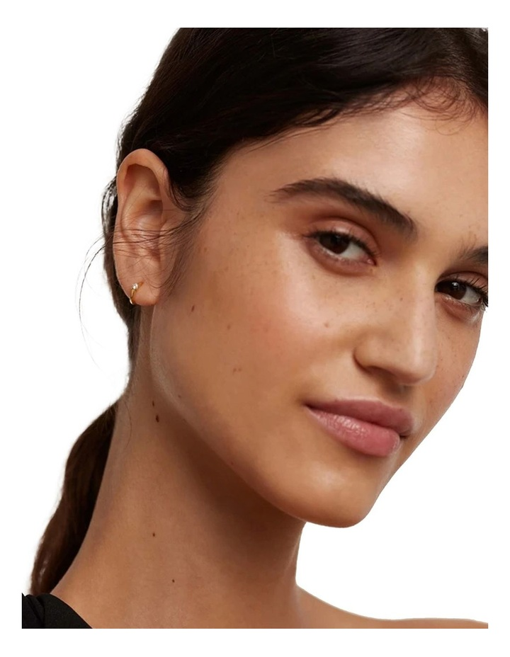 White Solitary Earring image 3