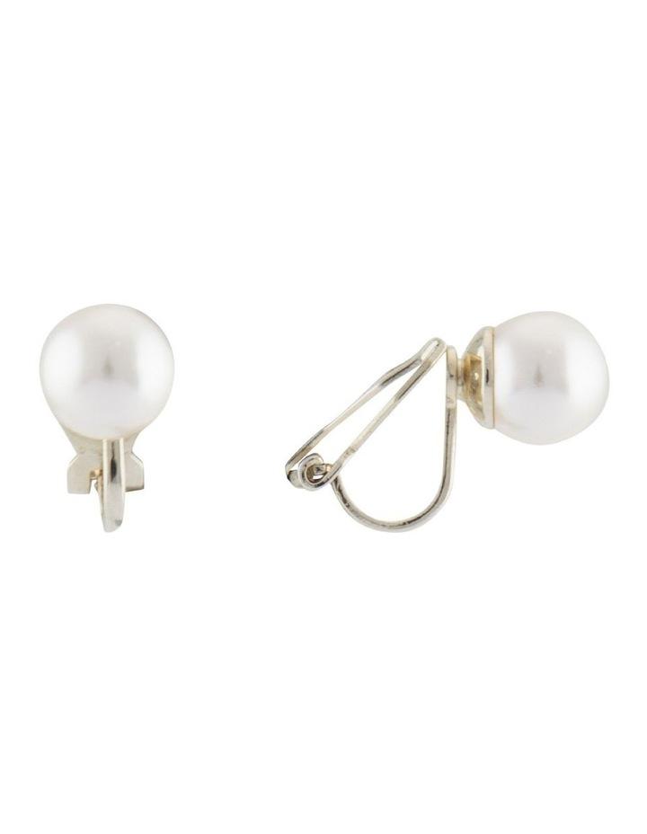 8mm Pearl Clip Earrings image 2