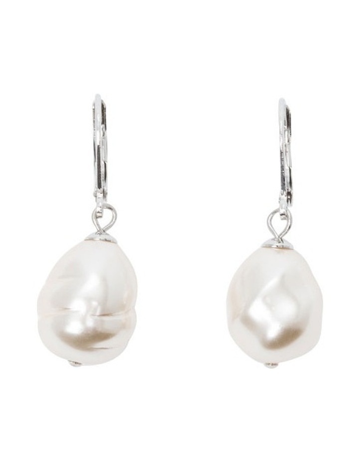 F731PE-IVO Pearl Earrings image 1