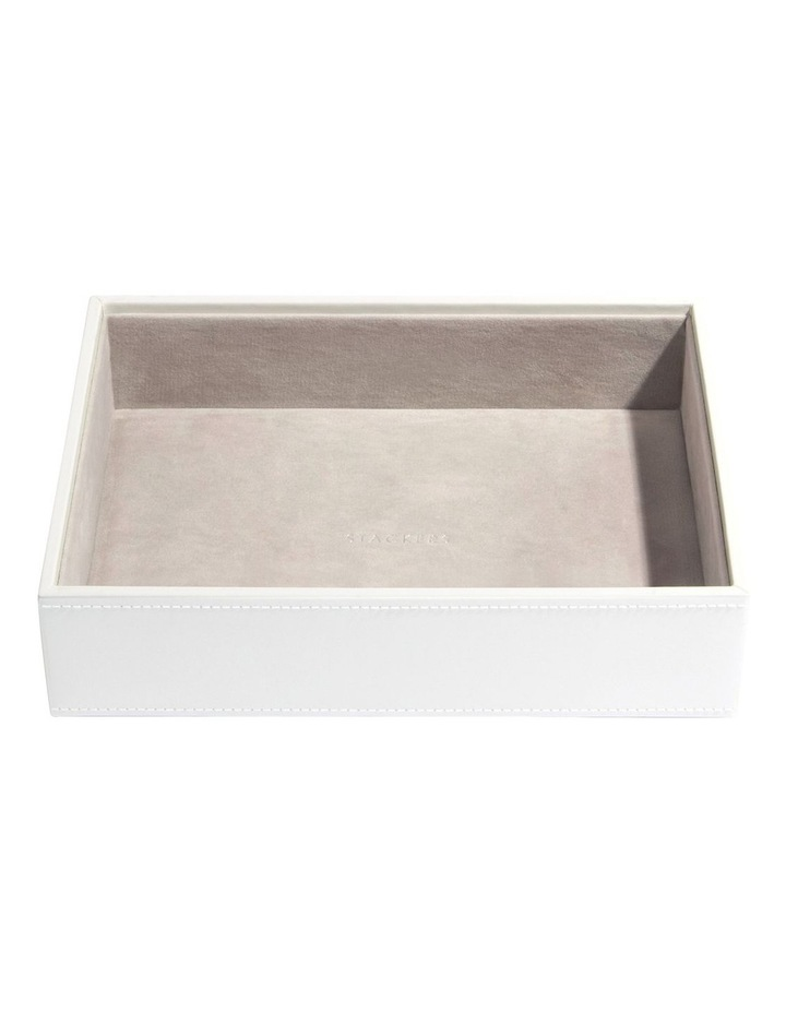 Classic Deep Chunky Layer White Jewellery Box image 1