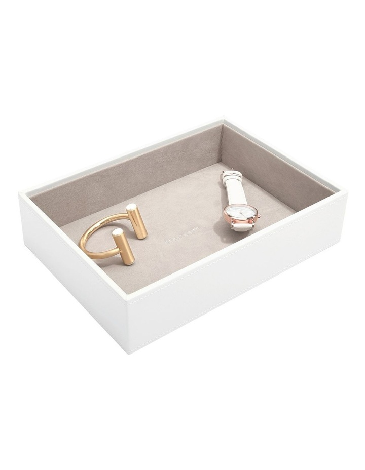 Classic Deep Chunky Layer White Jewellery Box image 3