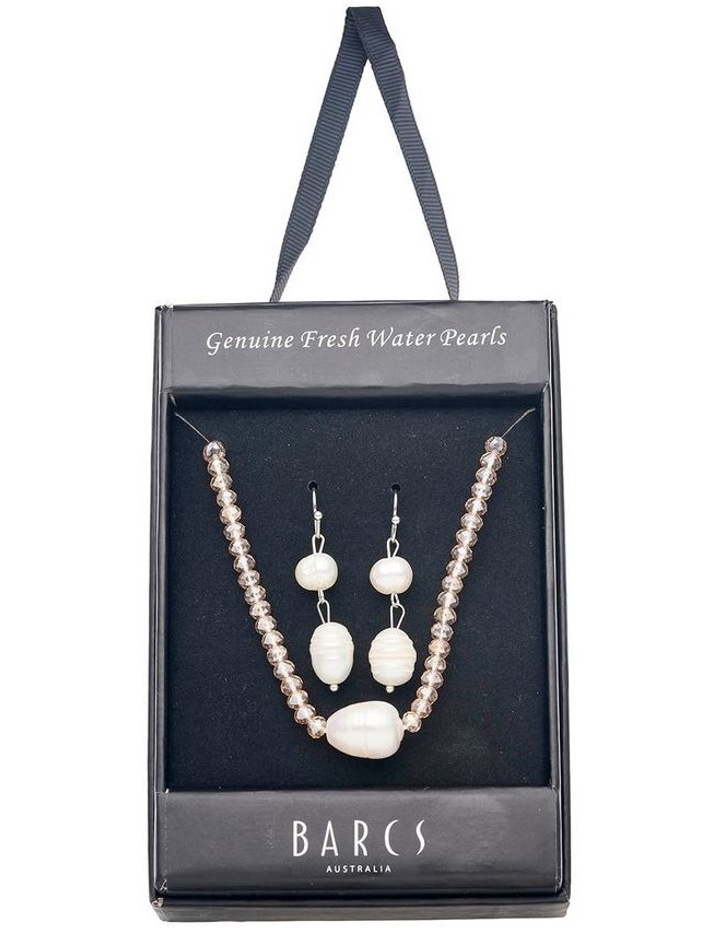 Freshwater Pearl & Crystal Set image 1