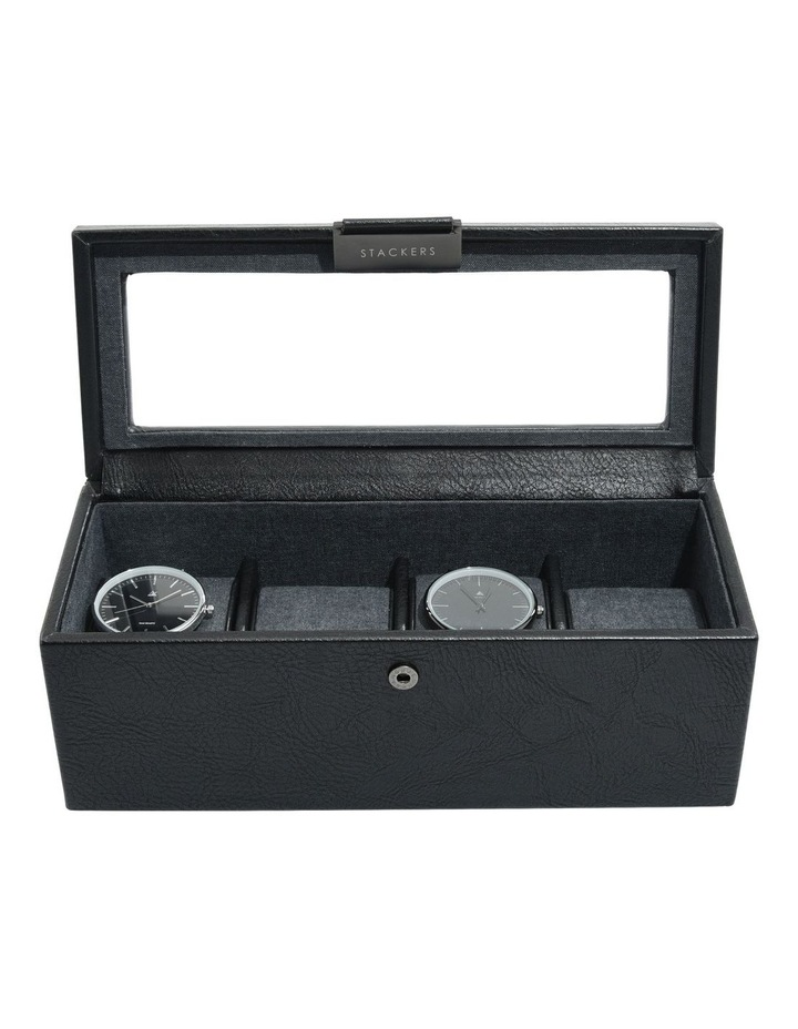 Lidded 4 Compartment Watch Box image 1