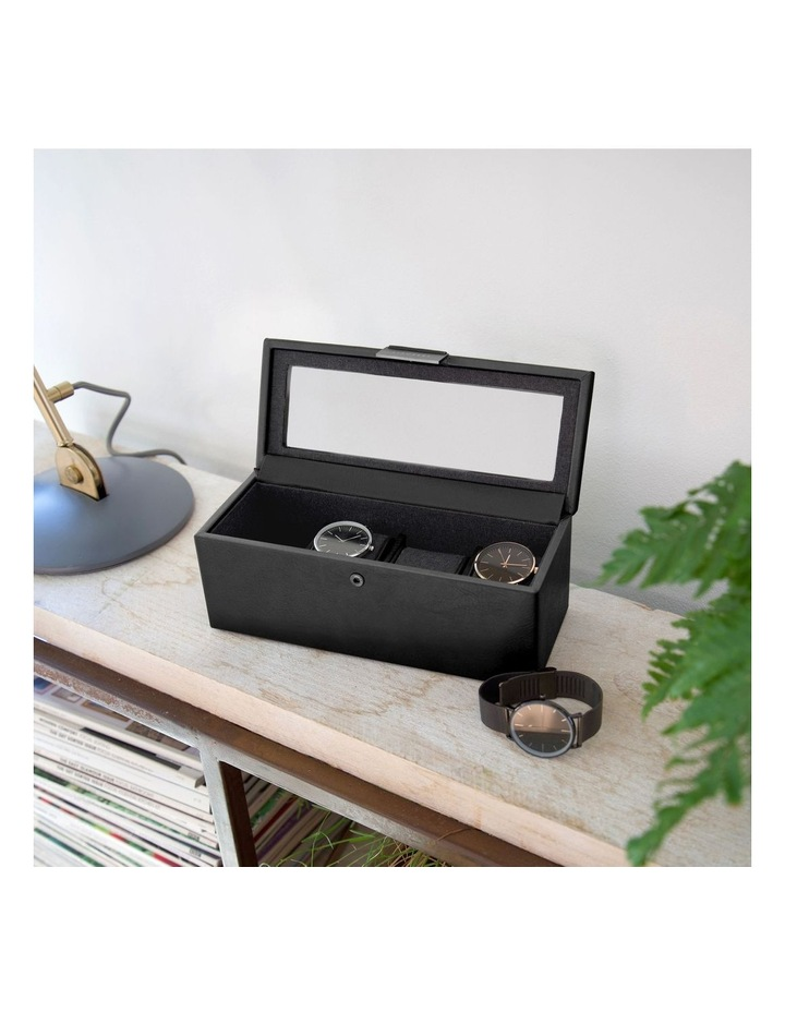 Lidded 4 Compartment Watch Box image 3