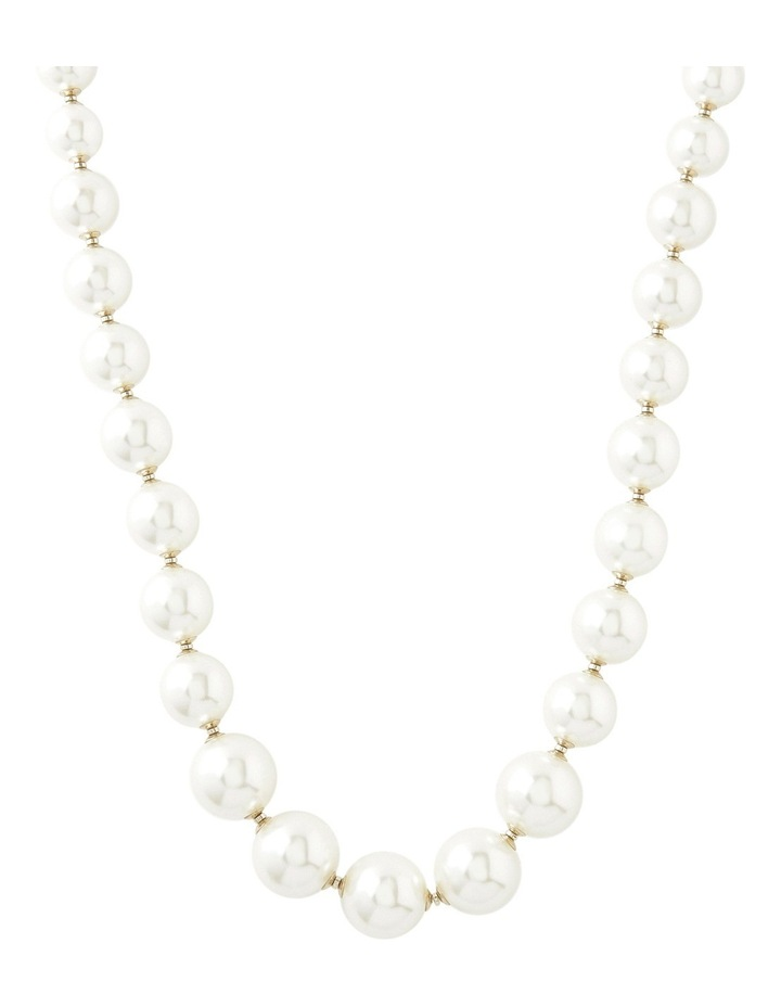 Graduated Large Faux Pearl Necklace Withith Dividers image 1