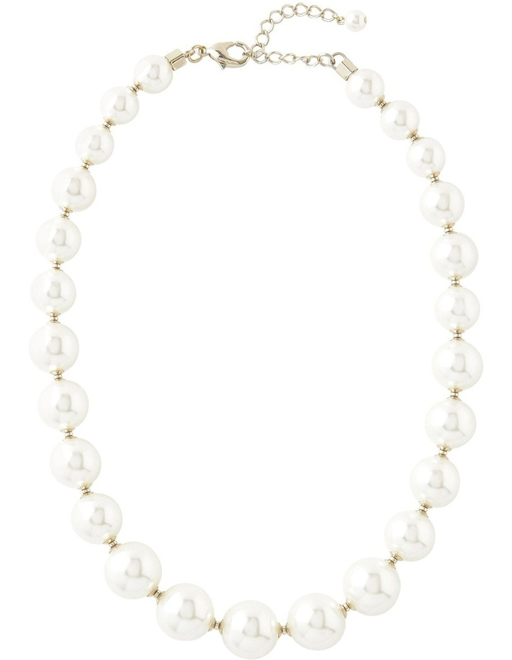 Graduated Large Faux Pearl Necklace Withith Dividers image 2