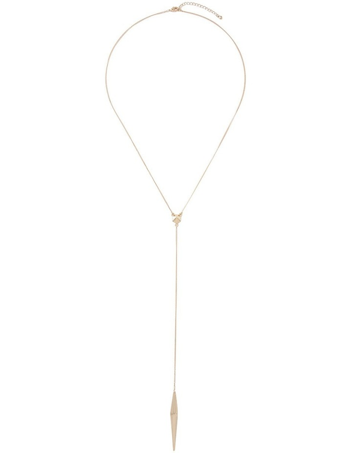 Modern Teardrop Y-Chain Necklace image 1