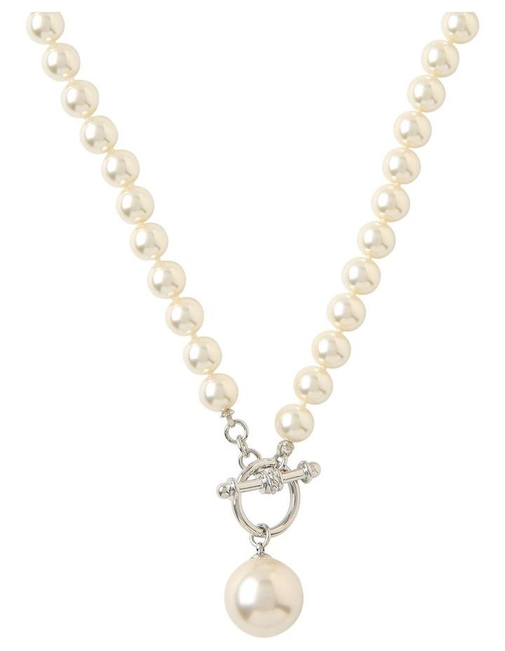 Faux Pearl Fob Necklace Gjnl011M image 1
