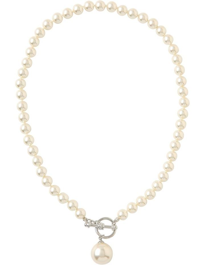 Faux Pearl Fob Necklace Gjnl011M image 2
