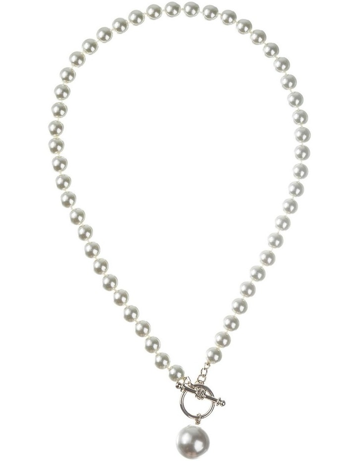 Faux Pearl Fob Necklace image 1